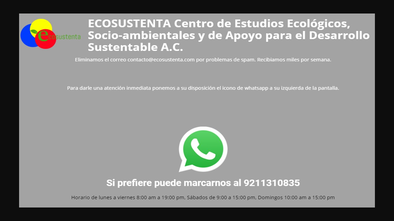 Usa el ícono de whatsapp para contactarnos.